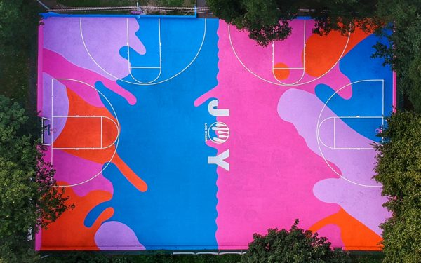 local artist brings the first art basketball court to brighton