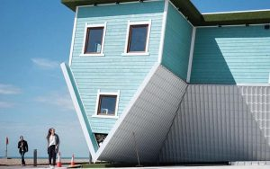 upside-down house opens in brighton